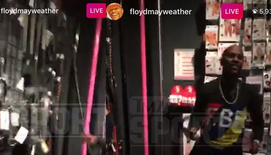 Floyd Mayweather takes his entourage to a famous sex store for