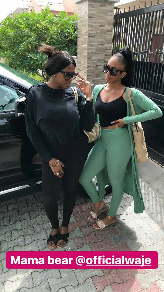 Singer Waje and her daughter, Emerald