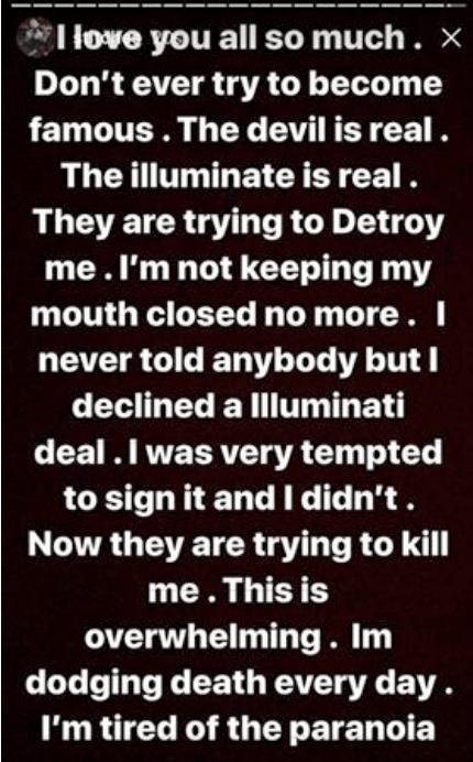 """The Illuminati is real. They"