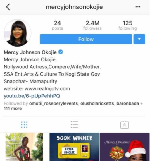 Hope all is well? Mercy Johnson deletes all her husband
