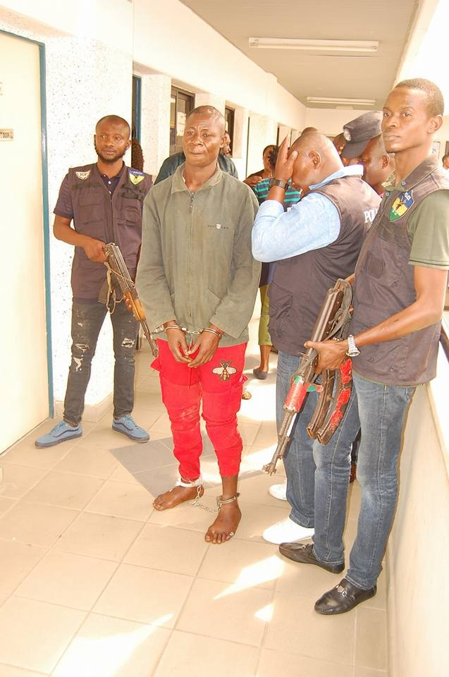 Photos: Police parade another notorious cultist that partook in the New Year day massacre in Omoku, Rivers state