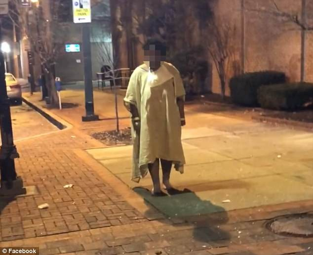 Outrage as hospital patient is dumped at a bus stop in freezing cold weather in Baltimore (Video)