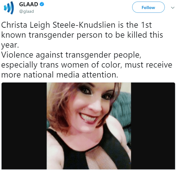 Miss Trans America founder is the first known transgender person killed in 2018