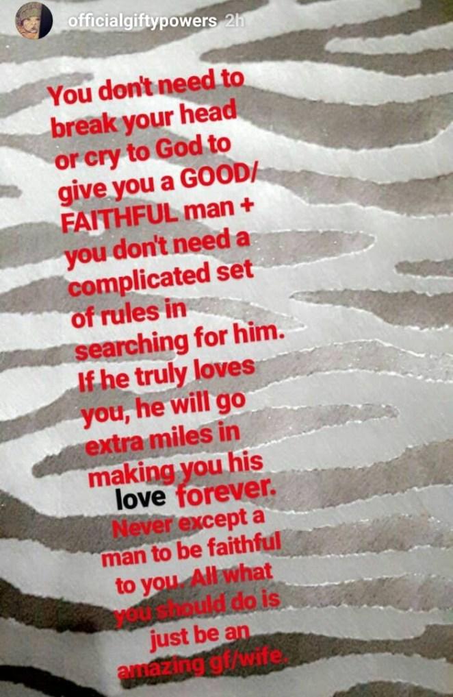 5a59a1669dd98 - BBN's Gifty Powers gives advice on how to get a good/faithful man