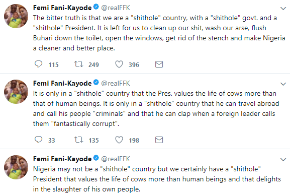5a5b86c43b237 - ''The bitter truth is that we are a shithole country, with a shithole government. and a shithole President'' FFK says