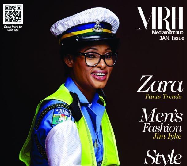 Photos:?Inspector Josephine Okeme tells her inspiring story as she covers January edition of Mediaroomhub Magazine