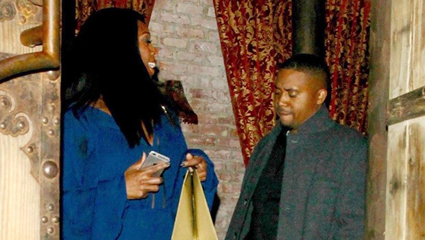 After splitting from Nicki Minaj, Nas is seen on a dinner date with actress Tasha Smith (Photos)
