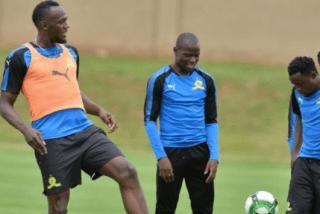 Photos:?Usain Bolt trains with South African football club, Mamelodi Sundowns