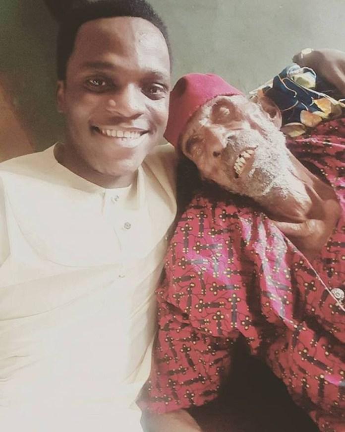 Nigerian man shows off his 145-year-old grandpa (Photos)
