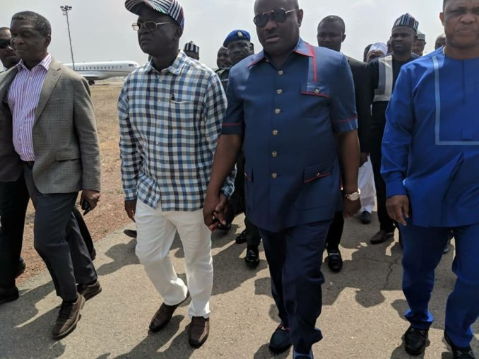 Herdsmen killings: Governor Wike pays condolence visit to Benue state governor, Samuel Ortom(photos)