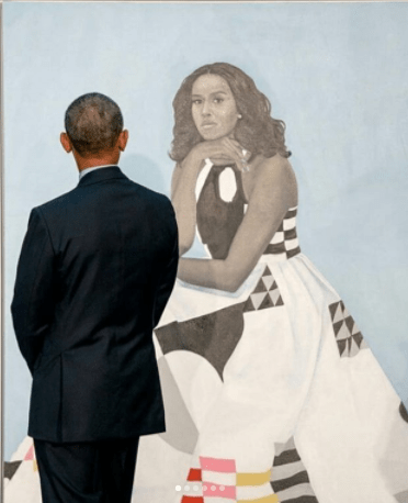 Barack Obama still has the hots for Michelle and his reaction to her official portrait is proof