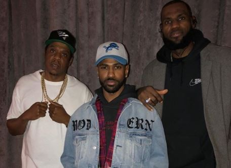 5a8305f29dfd4 - Jay-Z, Big Sean and Lebron James pose for cute pic