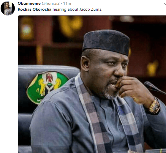 5a852a469f372 - ''What becomes of his statue?'' Nigerians troll Governor Rochas Okorocha following South African president Jacob Zuma's resignation over corruption allegations