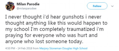 5a8563607a1bf - Harrowing video showing students screaming inside Florida school as shots were fired killing some of them