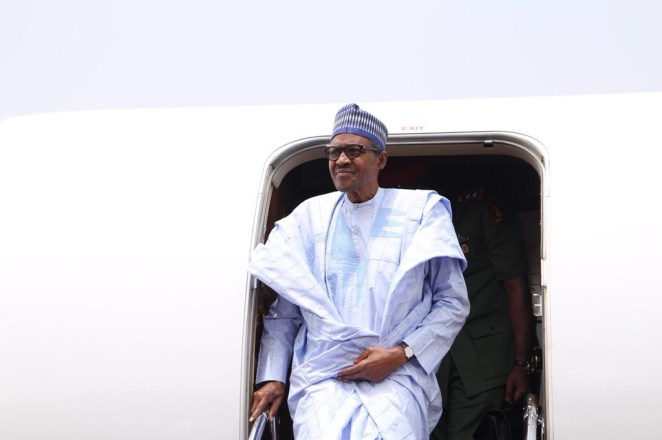 5a8591fd472ec - President Buhari arrives Kaduna to inaugurate a drone constructed by the Nigerian Air Force(photos)