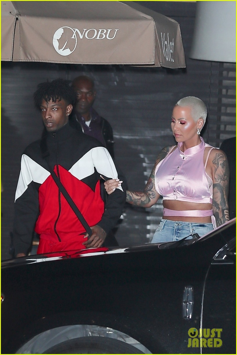 Is everything okay? Amber Rose and beau 21 Savage looked unhappy after celebrating their first Valentine's Day (Photos)