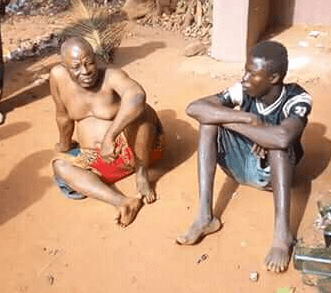 Ritualist who allegedly pays boys N10,000 to collect used pants of virgins exposed in Anambra state (video)