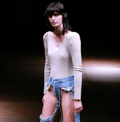 Fashion or madness! Thong jeans debuts at Tokyo