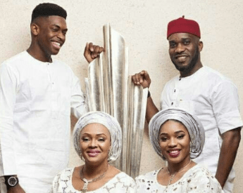 Lovely family photos of football legend, JayJay Okocha, his wife and their two children