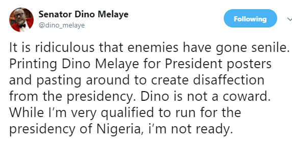 2019: Dino Melaye reacts to his presidential campaign posters