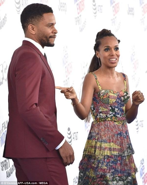 Photos: Kerry Washington makes rare appearance with her husband Nnamdi Asomugha at the Independent Spirit Awards