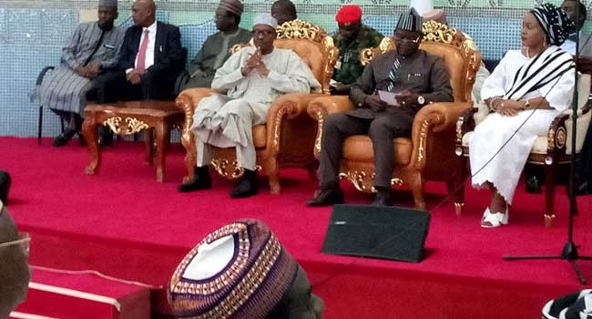 Photos: President Buhari arrives Benue, meets with stakeholders over killings
