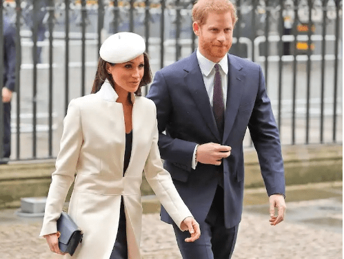 Meghan Markle stands out as she joins Queen and other members of the Royal Family for Commonwealth Day service