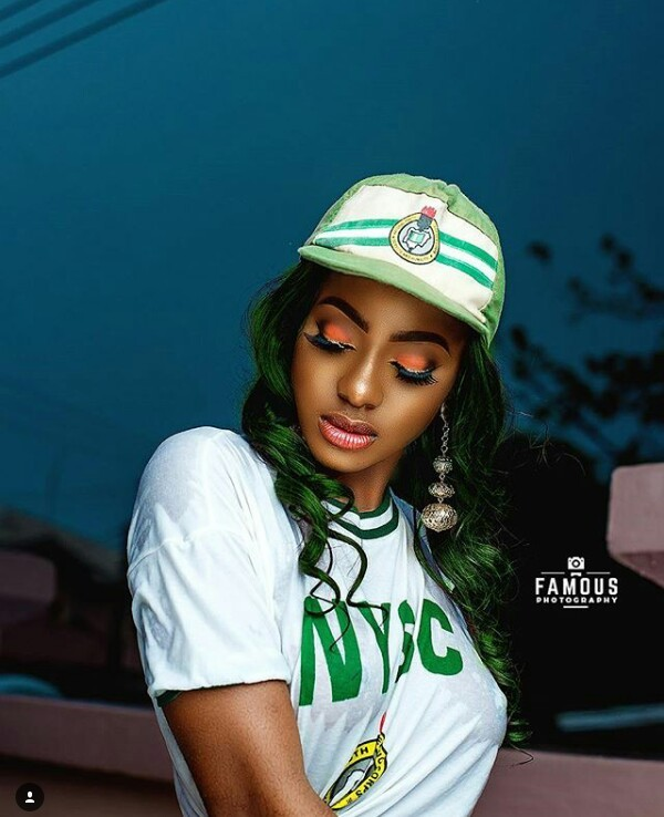 Photos: Corps member flashes nipples, boobs in wet NYSC crested vest