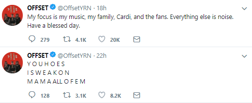 Offset and Cardi B react to woman