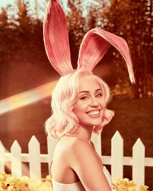 Miley Cyrus dresses up as a bunny for Easter photo shoot (photos)