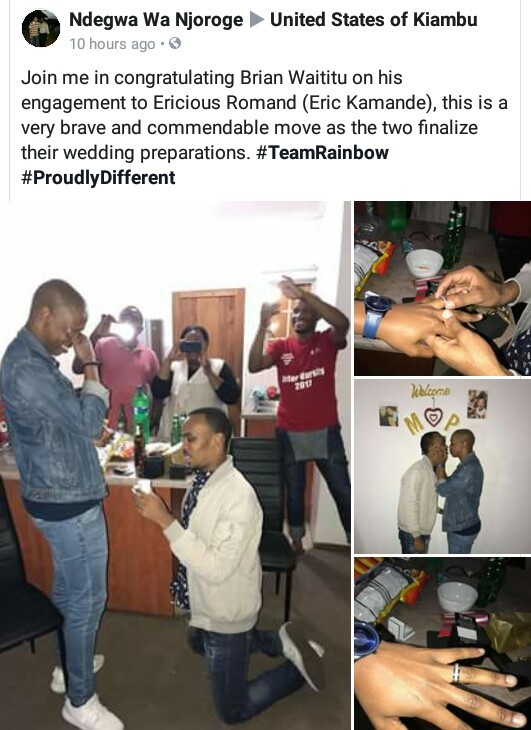 Gay Kenyan man proposes to his boyfriend (photos)