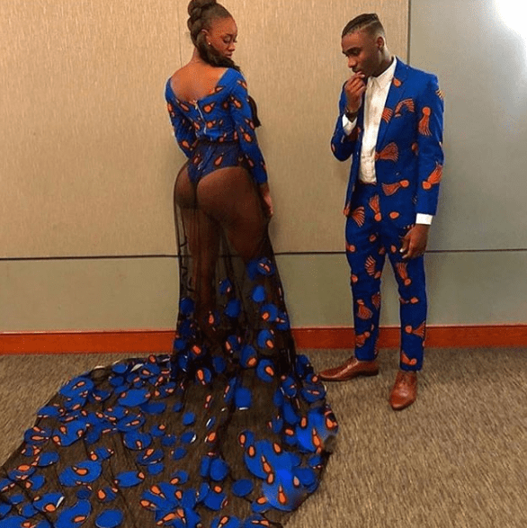 Teenager flashes her bom in a revealing ankara outfit for her Prom night