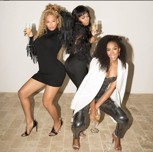 Another Destiny?s Child Reunion! Beyonc?, Kelly Rowland & Michelle Williams hang out (Photos)