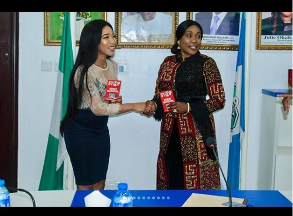 Tonto Dikeh becomes NAPTIP ambassador (Photos)