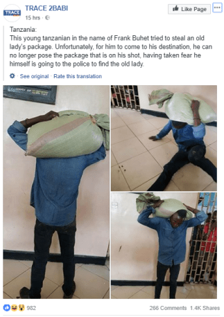 "Thief hands himself over to police after stolen bag ""refused to leave his head"" (photos)"