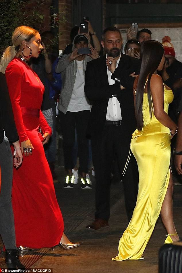 Kim Kardashian flaunts her massive cleavage and thigh in stunning?Versace gown at Business Of Fashion dinner (Photos)