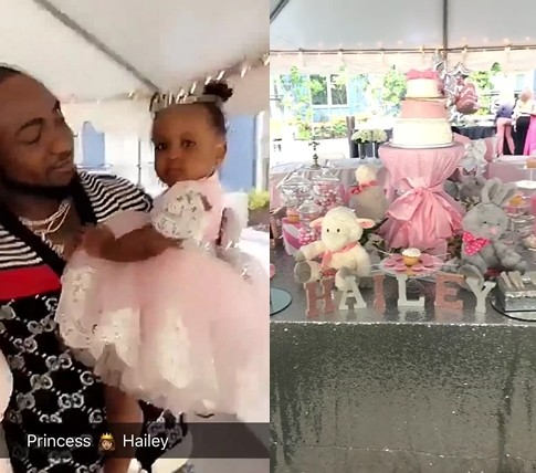 Davidos 2nd Daughter Hailey Turned 1 Year Old Yesterday And The Singer Made Sure He Was Present In Atlanta US To Throw Her A Party