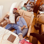 Davido and bae,Chioma in loved up photo