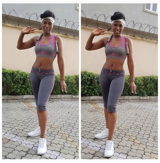 Mother of two Ufuoma McDermott shows off her enviable physique