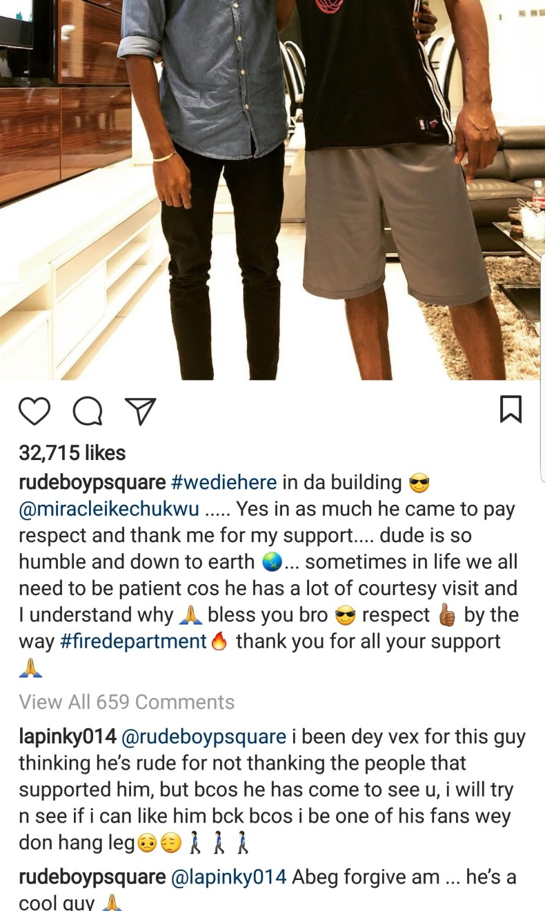 BBN winner Miracle visits Paul Okoye and his family at their home (photo)