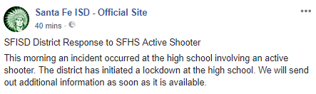 Students of Santa Fe High School describe the moment an active shooter opened fire in their school