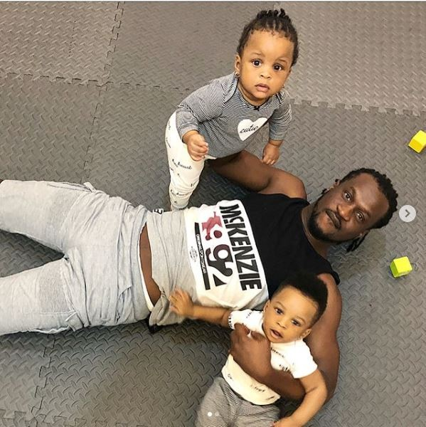 Adorable photos of Paul Okoye spending quality time with his twins, Nadia and Nathan
