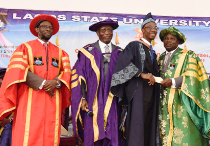 Governor Ambode gifts LASU best graduating student N5m, promises to sponsor his masters programme