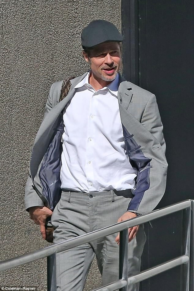 Brad Pitt looks happy as he steps out in LA amid custody battle drama with ex Angelina Jolie (Photos)