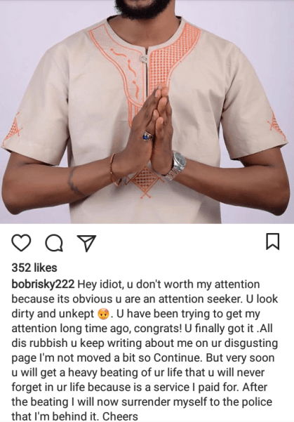 5b0d19f593fe7 - Bobrisky Threatens To Pay Thugs To Beat Up Uche Maduagwu & Hand Himself Over To The Police