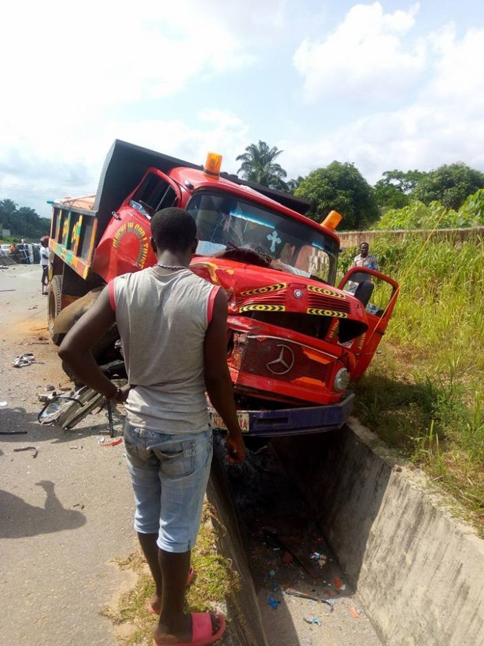 Graphic photos: Three women killed after truck rams into them in Imo