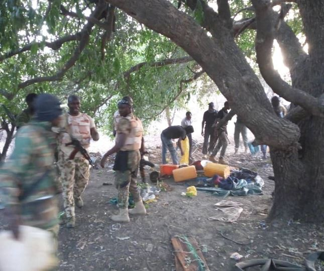 Photos: Troops kill 10 Boko Haram fighters in Ngelkona, recover over 2million naira cash and weapons