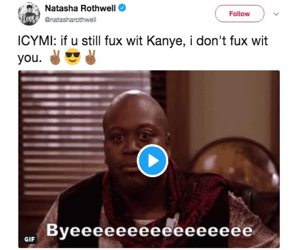 Issa Rae slams Kanye West in front of Kim Kardashian