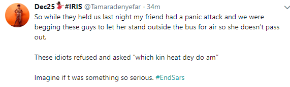 Twitter story: SARS officers allegedly arrest two ladies for indecent dressing in Lagos, says its against the law