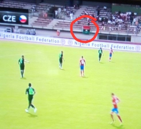 Photo:?Biafra flags spotted at the Super Eagles friendly game against Czech Republic in Austria (photo)